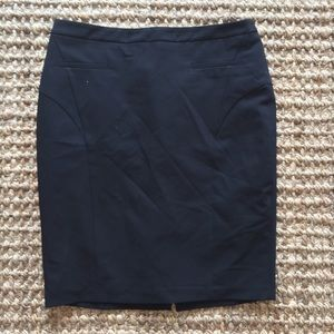 Black Accented Pencil Skirt